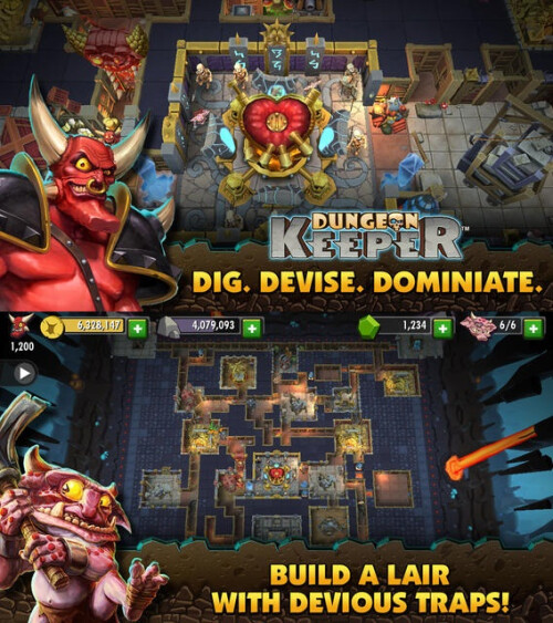 Dungeon Keeper - Android, iOS - Free