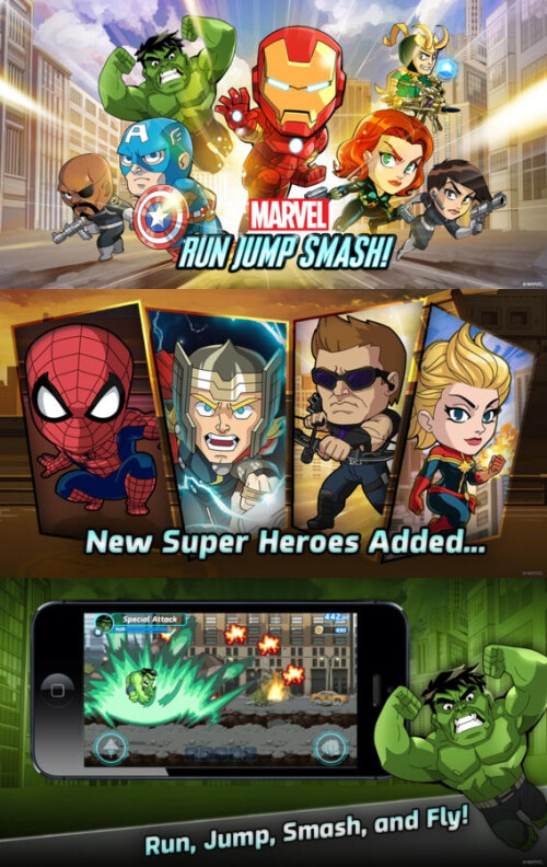 Marvel Run Jump Smash! - Android, iOS - $0.99