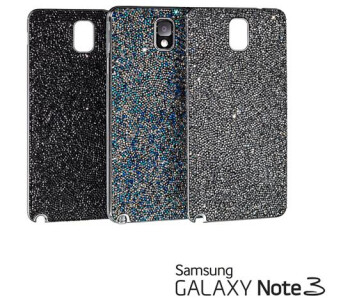 Phablet fashion: Samsung teams with Swarovski for crystal-studded Note 3 covers and bracelets