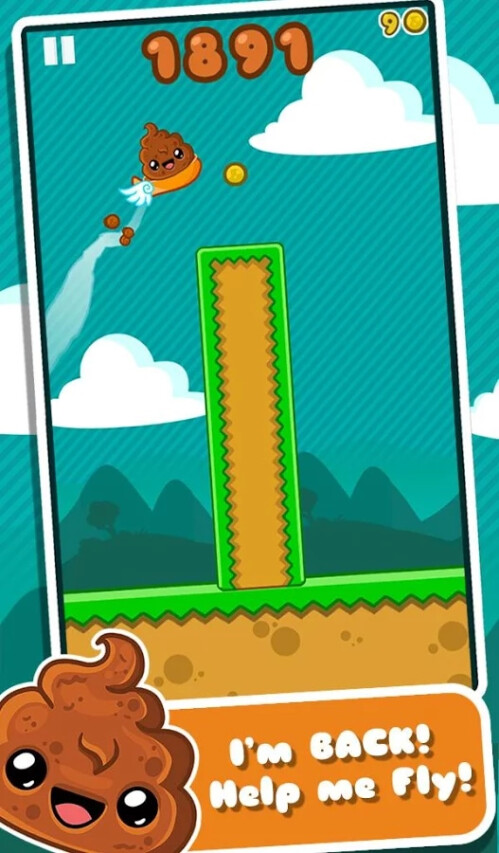 Happy Poo Flap (Android) - Flappy Bird number two