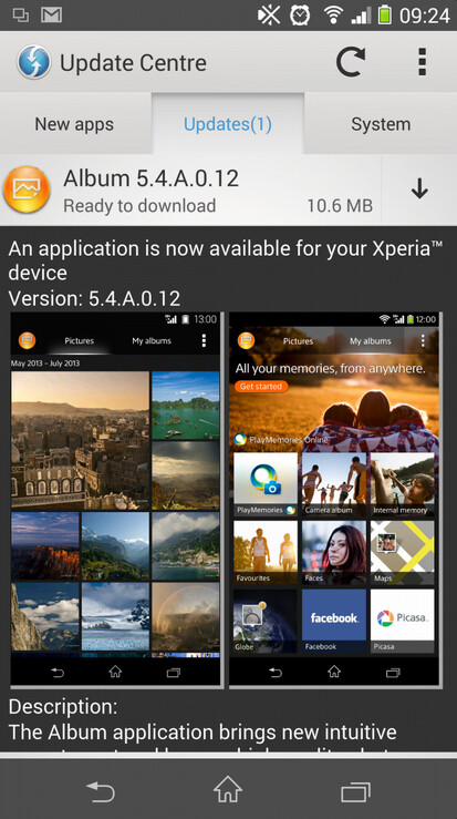 Sony Xperia Gallery app v5.4.A.0.12 screenshots