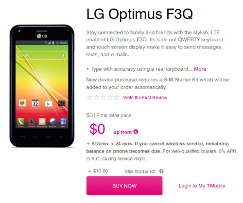 LG G Flex and LG Optimus F3Q now available from T-Mobile