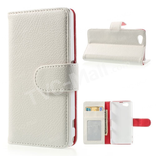 Litchi Skin Wallet Leather Stand Cover, $3.83