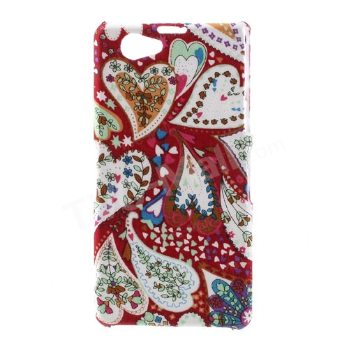 Hearts & Flowers Cloth Leather Coated Hard Case, $3.83