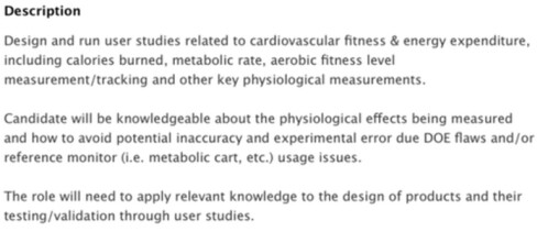 Apple is looking for an exercise physiologist