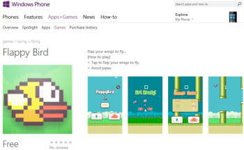 Flappy Bird clone already available for Windows Phone