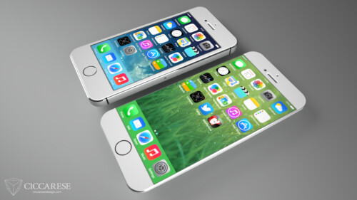 Renders show how a big-screen iPhone 6 with metal frame could pan out