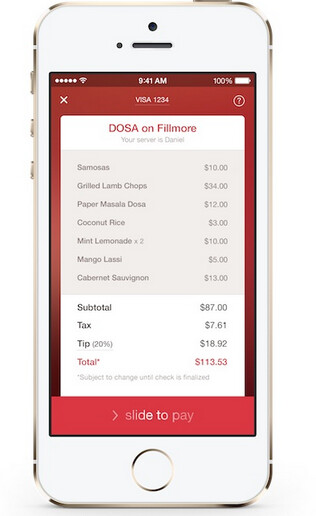 The iOS app for OpenTable is testing mobile payments