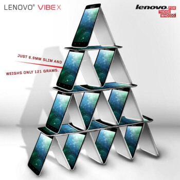 Lenovo gets creative to show us how thin and light its Vibe X smartphone is