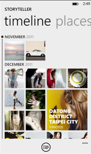 Screenshots from Nokia Storyteller Beta