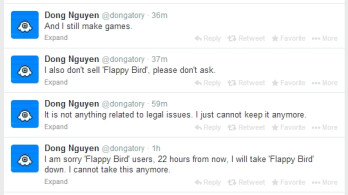 Goodbye Flappy Bird: dev says he'll remove the game from Google Play and iOS App Store