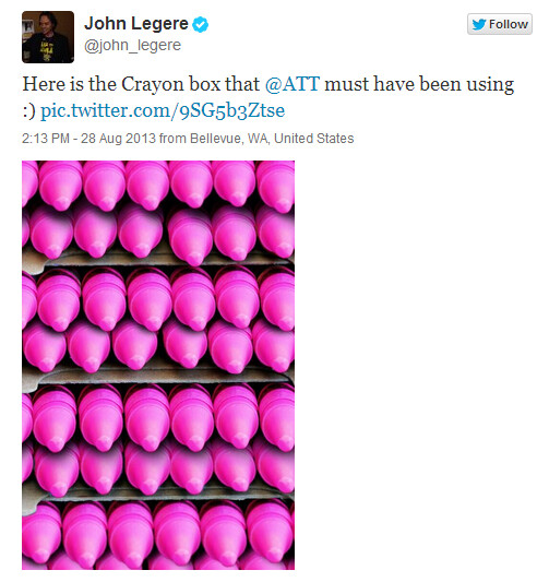 Hilarious tweet from T-Mobile CEO John Legere from back in August - Judge tells AT&T to stop infringing on T-Mobile's magenta logo