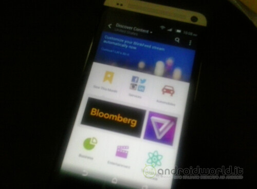 Blurry shot of the new Sense 6.0 BlinkFeed for HTC M8 leaks out