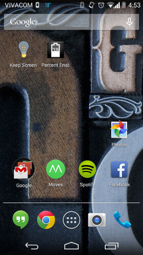 Here's how to display battery percentage in Android 4.4 KitKat