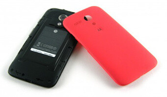 The Moto G has a non-removable battery