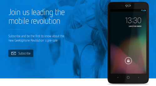 The Geeksphone Revolution will launch with its MultiOS technology on February 20th
