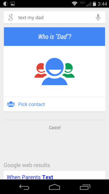 Google Now finally lets you refer to people by relationship