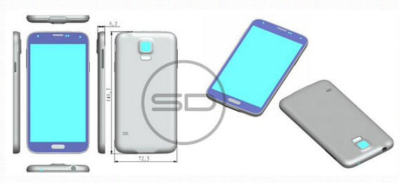 Alleged design reference for the Samsung Galaxy S5 - Design reference might accurately reveal what the Samsung Galaxy S5 will look like
