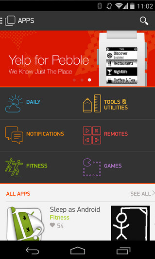 The Pebble app store for Android has been delayed