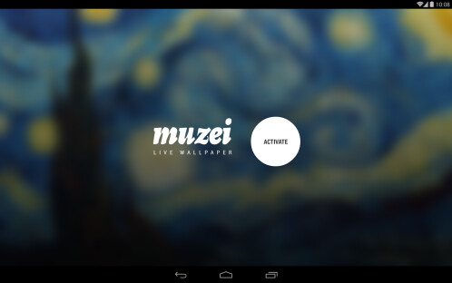 Muzei live wallpaper app
