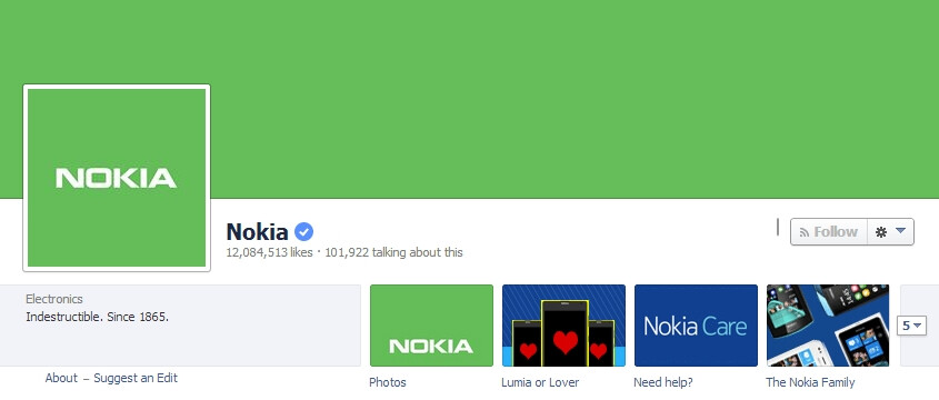 Nokia's Facebook page ditches blue for green - might be a sign that its first Android phone is coming