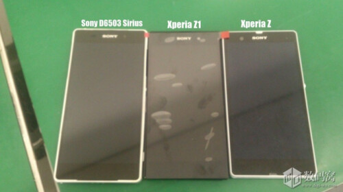 Sony D6503 Sirius side by side with the Sony Xperia Z1 and the Sony Xperia Z