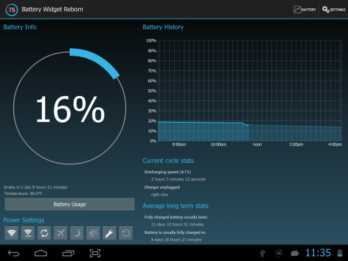 Battery Widget Reborn - Android - $0.99 from $1.99