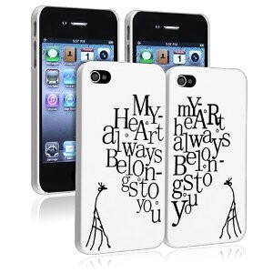 My Heart Always Belongs to you - pair of cases