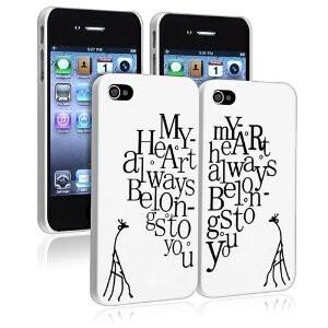 My Heart Always Belongs to you - pair of cases