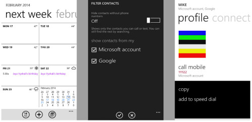 Screenshots from Windows Phone 8.1 SDK