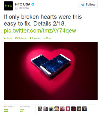 HTC's tweet hints at a new service to repair cracked screens