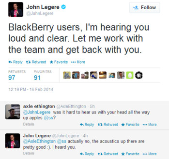 T-Mobile CEO John Legere quickly responds to T-Mobile's BlackBerry fans