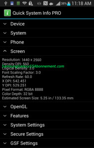 "Alleged Galaxy S5 screenshot seemingly confirms a 5.2"" QHD display with 560ppi density"