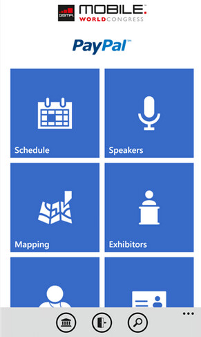 Screenshots of the MWC app for Windows Phone