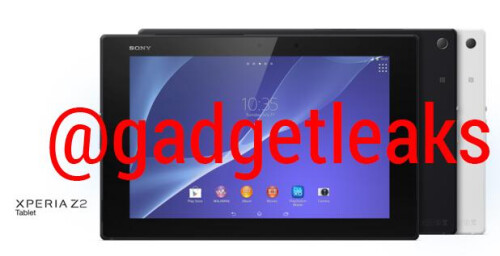 Sony Xperia Z2 Tablet pictures revealed, white and black versions shown