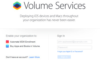 Apple's enhanced MDM services will include the volume purchase of apps and books