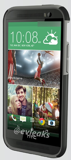 HTC M8 / One 2 press image leaks, Sense 6.0 UI and large front-facing camera visible