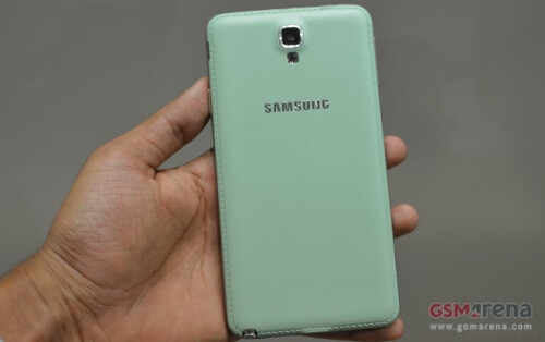 Mint Lemon Samsung Galaxy Note 3 Neo shows its face (and back)