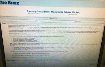 Leaked internal memo reveals a February 19th update to Android 4.4 for the U.S. Cellular Samsung Galaxy Note 3