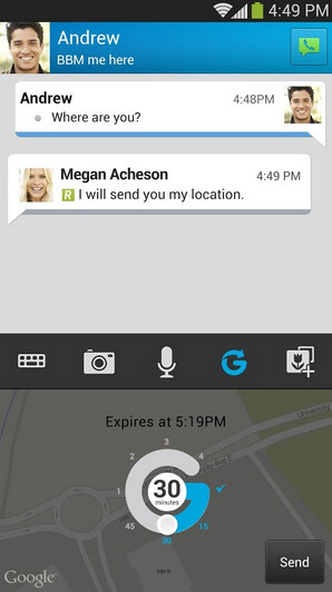 Screenshots of BBM for Android