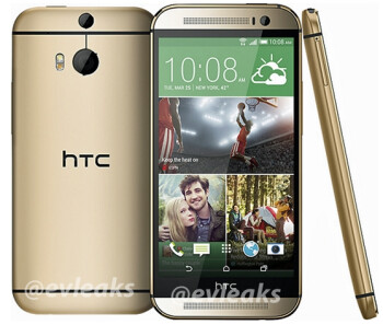 The All New HTC One (M8) pictured again, this time in gold