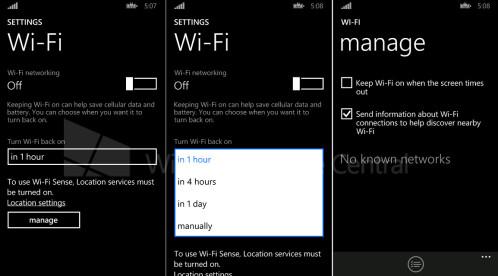 Wi-Fi auto-on