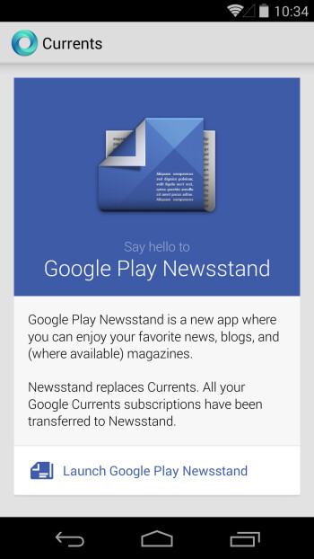 Google Currents officially dead with latest update, pushes users to Play Newsstand