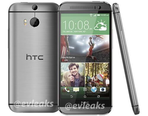HTC M8 in silver