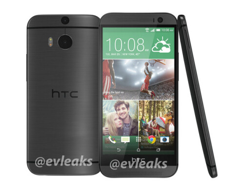 HTC M8 in gray