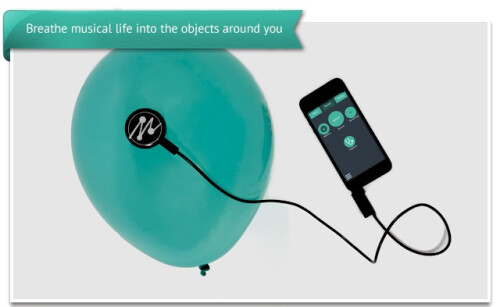 Mogees turns everyday objects into musical instruments with a sensor and a smartphone