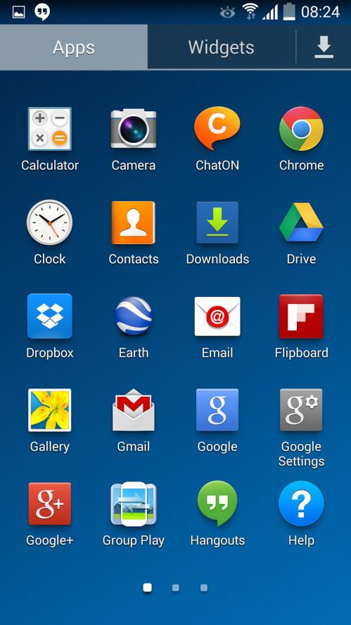 Samsung Galaxy S4 running Android 4.4.2 KitKat