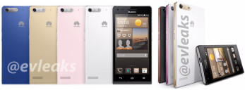 Press renders of Huawei's Ascend G6 appear, plus live photos of the MediaPad X1