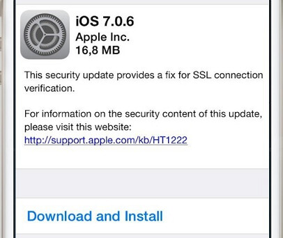 Apple sent out iOS 7.0.6 to repair a security flaw - Apple sends out iOS 7.0.6 to fix major security flaw