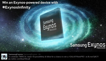 Samsung spreads the word about Exynos Infinity by letting you win a Galaxy NotePRO